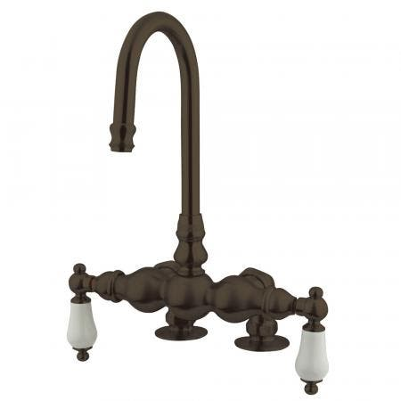 "Kingston Brass CC93T5 Vintage 3-3/8"" Deck Mount Tub Filler, Oil Rubbed Bronze"