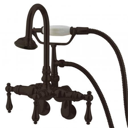 Kingston Brass CC301T5 Vintage Wall Mount Tub Filler with Adjustable Centers, Oil Rubbed Bronze