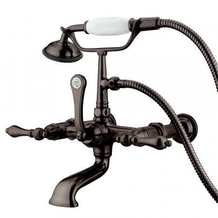 """Kingston Brass CC541T5 Vintage 7"""" Wall Mount Tub Filler with Hand Shower, Oil Rubbed Bronze"""