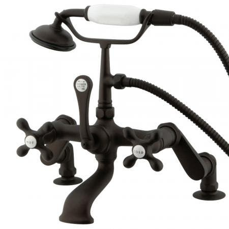 Kingston Brass CC657T5 Vintage Deck Mount Tub Filler with Adjustable Centers, Oil Rubbed Bronze