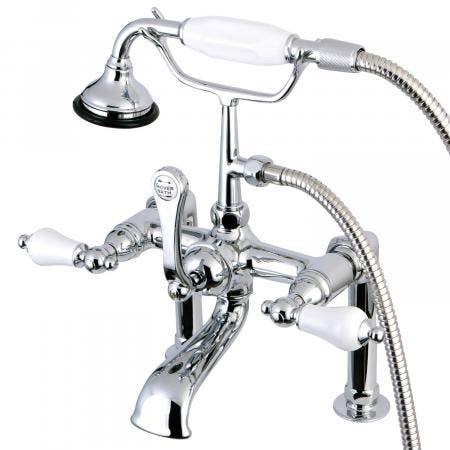 Aqua Vintage AE106T1 Vintage Deck Mount Clawfoot Tub Faucet, Polished Chrome