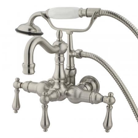 Kingston Brass CC1007T8 Vintage 3-3/8-Inch Wall Mount Tub Faucet, Brushed Nickel