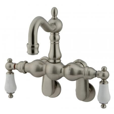 Kingston Brass CC1083T8 Vintage Adjustable Center Wall Mount Tub Faucet, Brushed Nickel