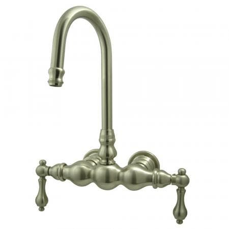Kingston Brass CC1T8 Vintage 3-3/8-Inch Wall Mount Tub Faucet, Brushed Nickel