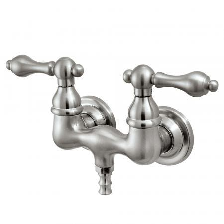 Kingston Brass CC31T8 Vintage 3-3/8-Inch Wall Mount Tub Faucet, Brushed Nickel