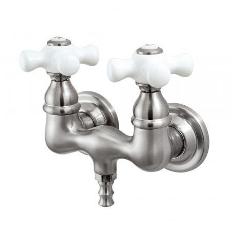 Kingston Brass CC39T8 Vintage 3-3/8-Inch Wall Mount Tub Faucet, Brushed Nickel
