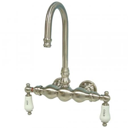 Kingston Brass CC3T8 Vintage 3-3/8-Inch Wall Mount Tub Faucet, Brushed Nickel