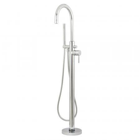 Kingston Brass KS8151DL Concord Floor Mount Tub Filler with Hand Shower, Polished Chrome
