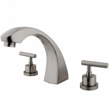 Kingston Brass KS4368CML Manhattan Roman Tub Faucet, Brushed Nickel
