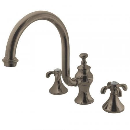 Kingston Brass KS7348TX French Country High Arc Roman Tub Faucet, Brushed Nickel