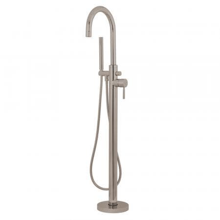 Kingston Brass KS8158DL Concord Freestanding Tub Faucet with Hand Shower, Brushed Nickel