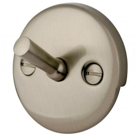 Kingston Brass DTL108 Round Overflow Plate with Trip Lever Drain, Brushed Nickel