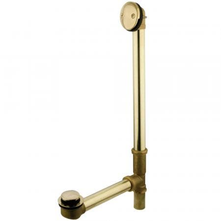 Kingston Brass DTT2182 Tip-Toe Bath Tub Drain with Overflow, Polished Brass