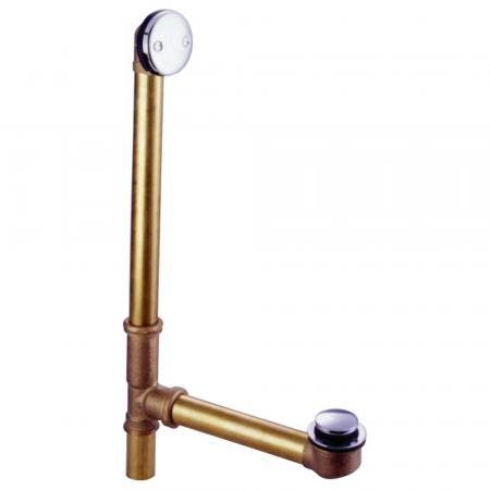 Kingston Brass DTT2181 Tip-Toe Bath Tub Drain with Overflow, Polished Chrome