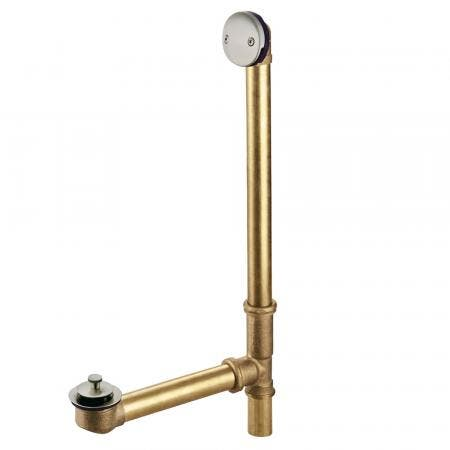 """Kingston Brass DLL3188 18"""" Tub Waste and Overflow with Lift & Lock Drain, 20 Gauge, Brushed Nickel"""