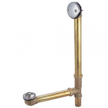 """Kingston Brass PDLL3168 16"""" Tub Waste with Overflow with Lift and Lock Drain, Brushed Nickel"""