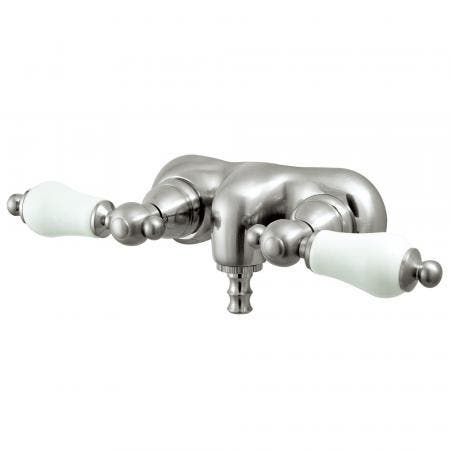 Kingston Brass CC45T8 Vintage 3-3/8-Inch Wall Mount Tub Faucet, Brushed Nickel