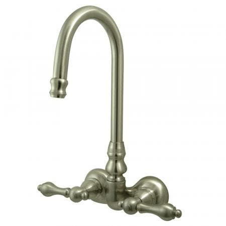 Kingston Brass CC71T8 Vintage 3-3/8-Inch Wall Mount Tub Faucet, Brushed Nickel