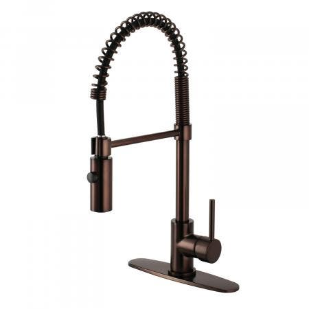 Gourmetier LS8775DL 8-inch Centerset Kitchen Faucet with Pull-Down Sprayer, Oil Rubbed Bronze