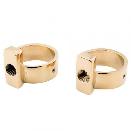 Kingston Brass CC432 Drain Bracelets For Supply Line Support From Cc452, Polished Brass