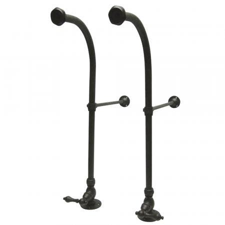 Kingston Brass CC455ML RIGID FREESTAND SUPPLIES with STP BRASS LEVER handle., Oil Rubbed Bronze