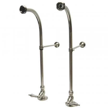 Kingston Brass CC458ML Rigid Freestand Supplies with Stops and Brass Levers