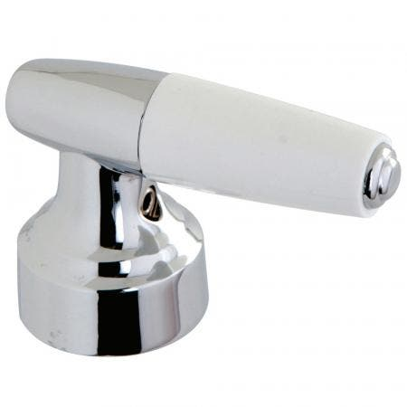 Kingston Brass KBH241C COLD LEVER DURASEAL HANDLE WITH WHITE PLASTIC TIP, Polished Chrome