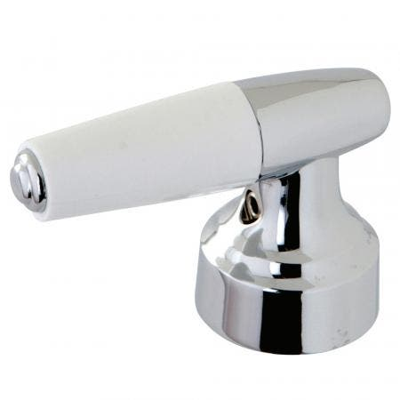 Kingston Brass KBH241H HOT LEVER DURASEAL HANDLE WITH WHITE PLASTIC TIP, Polished Chrome