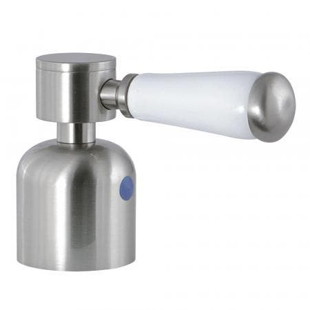 Kingston Brass KBH8968DPLC Cold Metal With Procelain Lever Handle