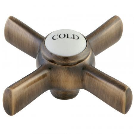 """Kingston Brass KSH2963ZXC COLD HANDLE FOR 8"""" CENTERSET FACUET 16T AB"""