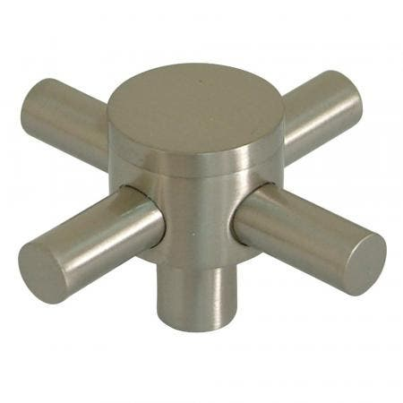 Kingston Brass KSH2968DX Brass Cross handle for KS2968DX, Satin Nickel