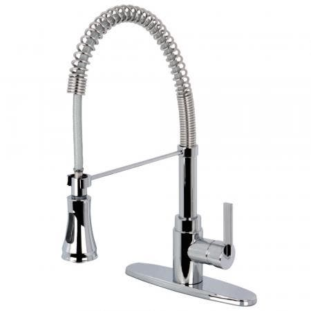 Kingston Brass KB3758BL Vintage 8 inch center two handle kitchen faucet with side sprayer