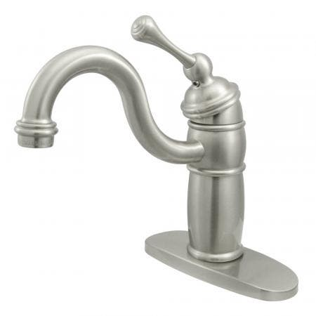 Kingston Brass KB573SP Kingston Brass KB573SP Single Lever Handle 8-Inch Kitchen Faucet with Deck Sprayer, Chrome