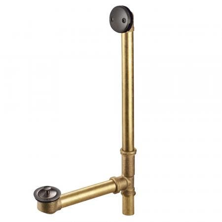 """Kingston Brass DLL3185 18"""" TUB WASTE & OVERFLOW with L Shaped DRAIN, Oil Rubbed Bronze"""