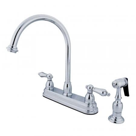 """Kingston Brass CC34L1 Vintage 8"""" Widespread Faucet with Pop"""