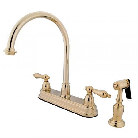 Kingston Brass CC39L8 Kingston Brass CC39L8 Widespread Lavatory Faucet, Satin Nickel