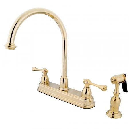 Kingston Brass CC4L1 Basin Faucet with Hot & Cold Porcelain Levers