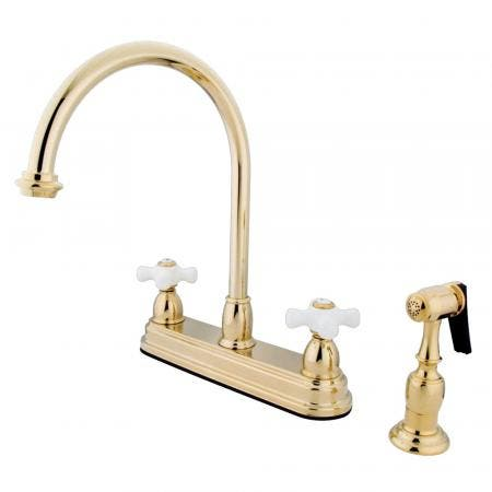 Kingston Brass CC52L1 Kingston Brass CC52L1 Widespread Lavatory Faucet, Chrome