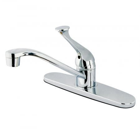 Kingston Brass KB3618GL Kingston Brass KB3618GL Deck Mount Lavatory Faucet with Handle and Retail Pop-Up, Satin Nickel