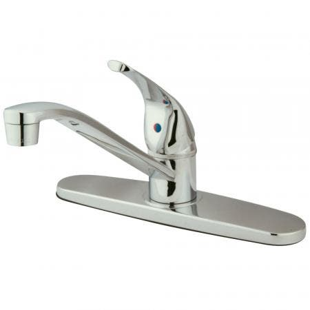 Kingston Brass KB3618NL Kingston Brass KB3618NL Deck Mount Lavatory Faucet with Handle and Retail Pop-Up, Satin Nickel