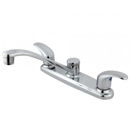 "Kingston Brass KB5611NML NAPLES 4"" centerset bathroom FAUCET, Polished Chrome"
