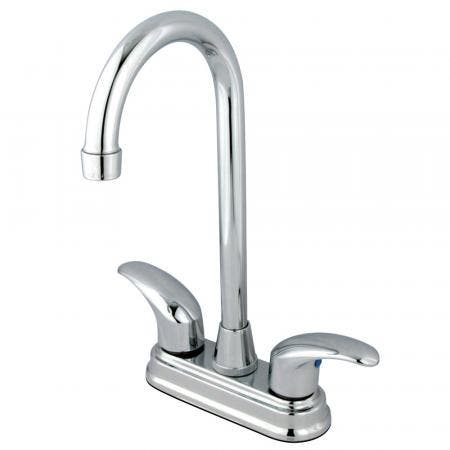 "Kingston Brass KB621FL 4"" Centerset bathroom Faucet with Scroll Handles"
