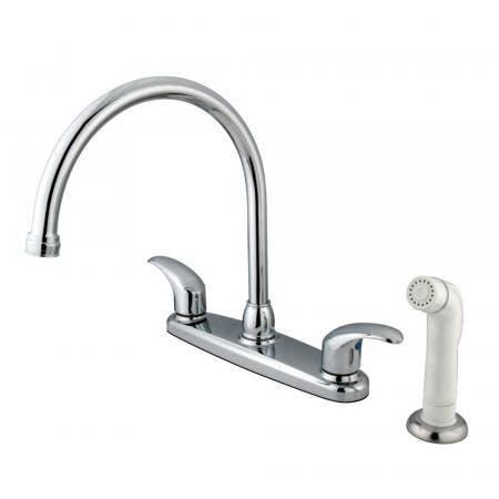 Kingston Brass KB8957FL ROYALE MinI WIDESPREAD Lavatory Faucet With SCROLL Handle, Satin Nickel, Polished Chrome