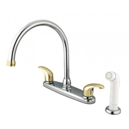 """Kingston Brass KB8959FL Two Handle 4"""" to 8"""" Mini Widespread bathroom Faucet with retail Pop"""