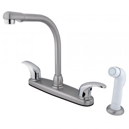 Kingston Brass KB951LL Kingston Brass KB951LL Mini Widespread Lavatory Faucet and Retail Pop-Up, Chrome