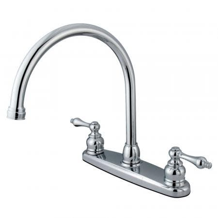 Kingston Brass KB952FL Kingston Brass KB952FL Mini Widespread Lavatory Faucet and Retail Pop-Up, Polished Brass