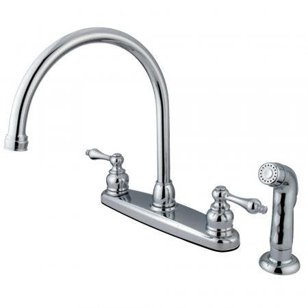 Kingston Brass KB952KL Kingston Brass KB952KL Mini Widespread Lavatory Faucet and Retail Pop-Up, Polished Brass