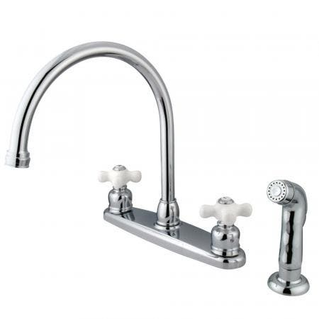 Kingston Brass KB955AX Kingston Brass KB955AX Mini Widespread Lavatory Faucet and Retail Popup, Oil Rubbed Bronze