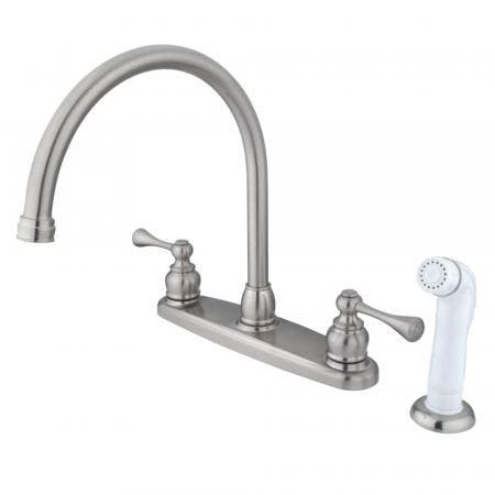 Kingston Brass KB962LL Widespread Lavatory Faucet, Polished Brass
