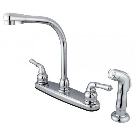 Kingston Brass KB967 WIDESPREAD bathroom Faucet, Satin Nickel/Polished Chrome 8